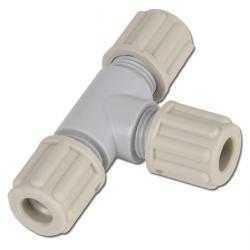 Slangkoppling - T-koppling - PA - Slang-Ø 6 till 14mm - upp till 10 bar